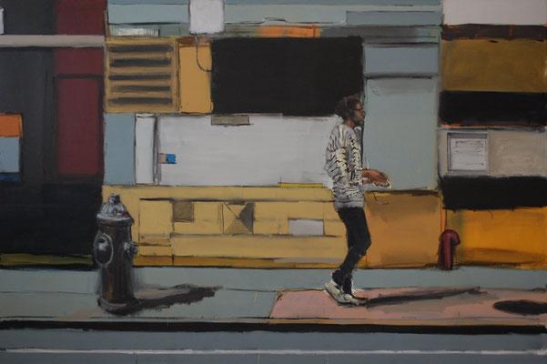 Soho Walking, 2014, Öl auf Leinwand, 120cm X 180cm, Privatbesitz