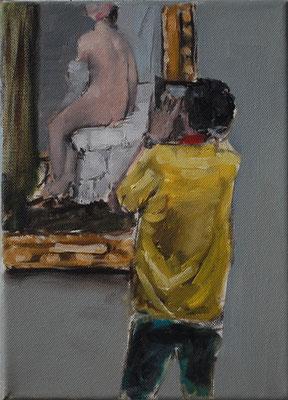 David, 2015, Öl auf Leinwand, 25cm X 20cm, Privatbesitz