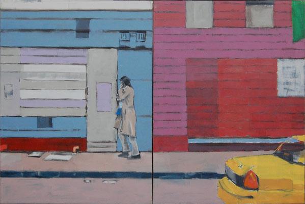 Taxi (Little Itaty), 2005, Öl auf Leinwand, 130cm X 195cm, Privatbesitz