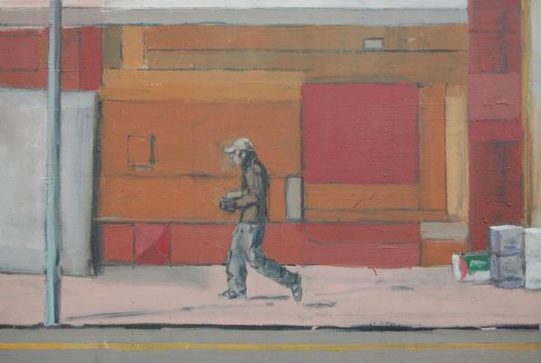Soho red, 2011, Öl auf Leinwand, 90cm X 120cm, Privatbesitz