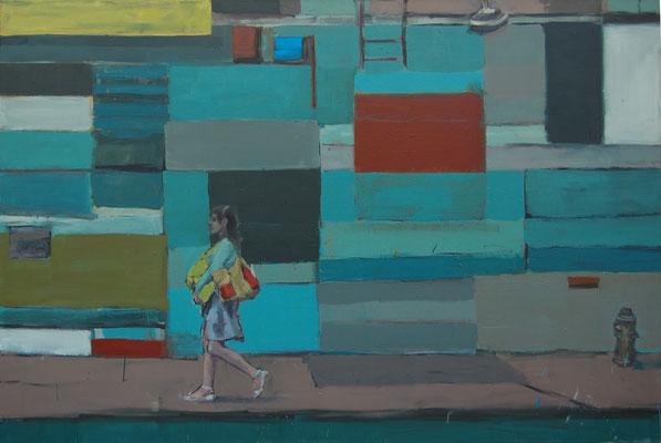 Soho, 2011, Öl auf Leinwand, 120cm X 180cm, Privatbesitz