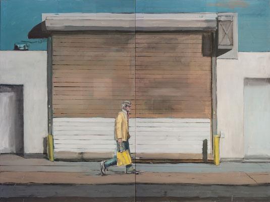David goes home, 2015, Öl auf Leinwand, 180cm X 240cm