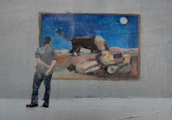 MET (SLEEPING), 2012, Öl auf Holz, 30cm X 40cm