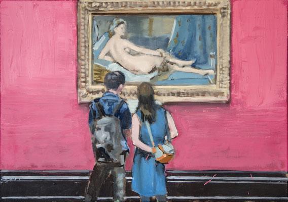 Ingres, 2017, Öl auf Leinwand, 50cm X 70cm