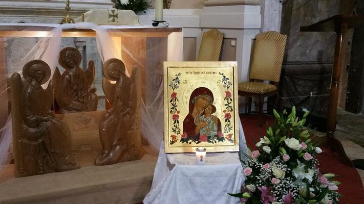 bénédiction de l'icône le samedi 9 septembre 2017 à Notre Dame de Valcluse - 2