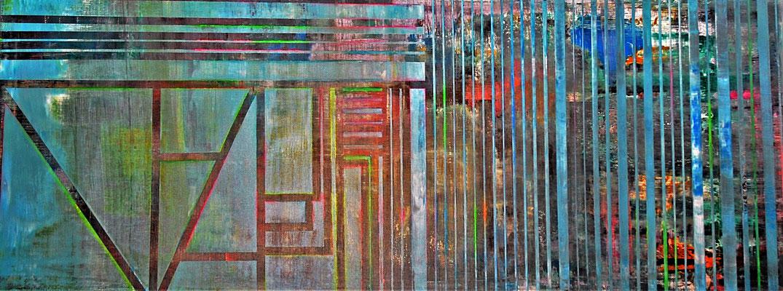 """""""Underground"""" 190x70x2cm/Acryl,Ölstift auf Leinwand"""