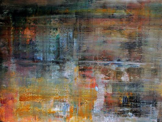 """In the Fog"" 160x120x2cm/ Acryl auf Leinwand"