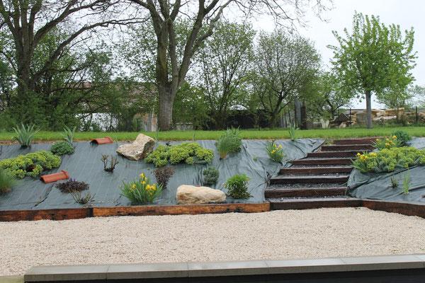 Le jardin de la location de vacances
