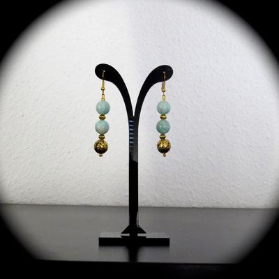 62. Boucles d'oreilles (5,5 cm) : Amazonite ; CHF 25.