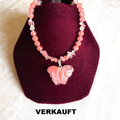 113. Halskette: Kirsch-Quarz: 45 cm; CHF 55.