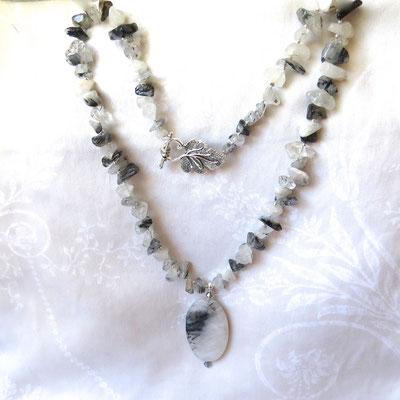 76. Halskette: Achat Rutil; 55 cm; CHF 60.