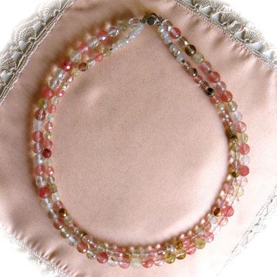 67. Halskette: Wassermelonen-Turmalin; 43 cm; CHF 80.