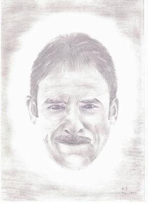 Selbstportrait 2001, Bleistiftzeichnung, DIN A4