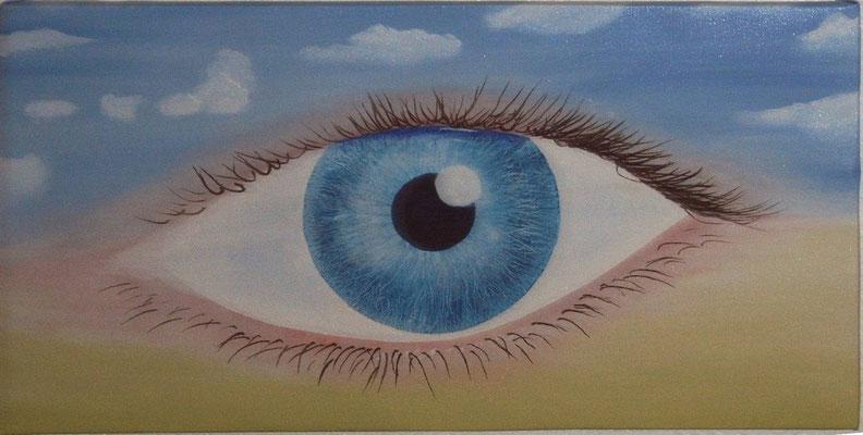 Auge, Acryl