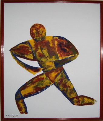 Dynamik, Acryl, Spachteltechnik,  55x64 cm