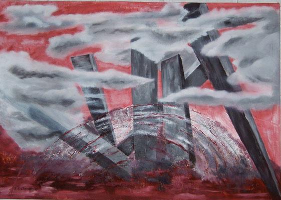 Ground Zero, Öl, 100x70 cm