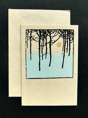 Daphne Doppelkarte mit farbigem Umschlag - KDap24