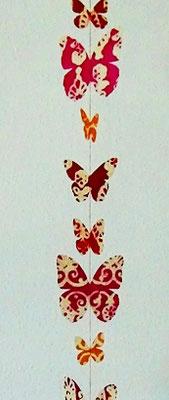 Schmetterlinge groß Batik (auch in blau, grün, rot, bunt)  Artikel-Nr GL04+Farbe