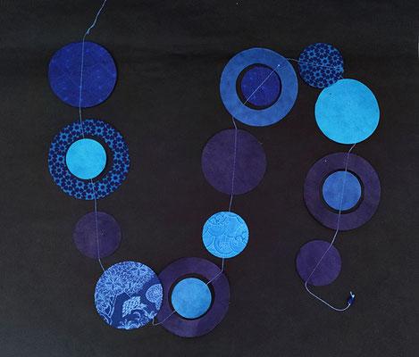 Girlande Planeten blau/blau - GL61