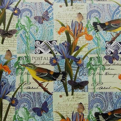 Florentiner Papiere: Blumen und Vögel - IT 917