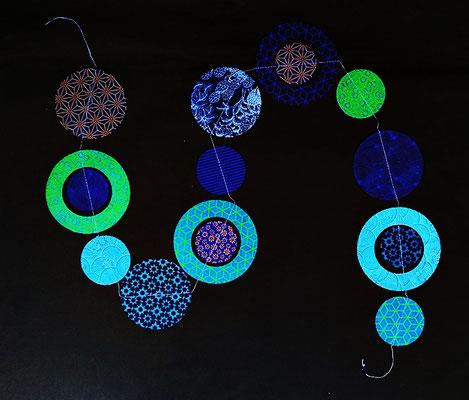 Girlande Planeten blau/grün - GL62