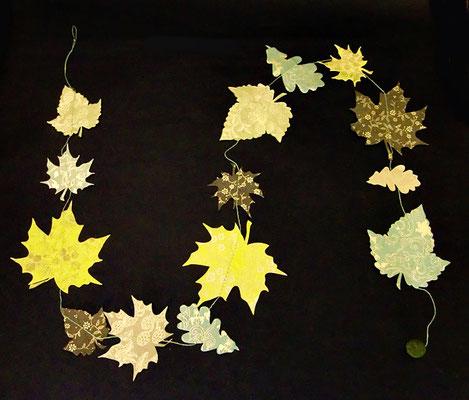 Girlande Blätter grün - GL52