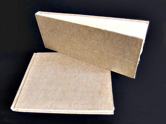 Außenbezug Tsasho-Papier aus Bhutan, Buchblock aus indischem Baumwollpapier