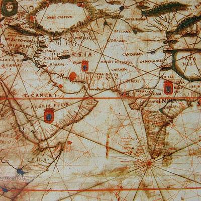 Florentiner Papiere: Landkarte Asien