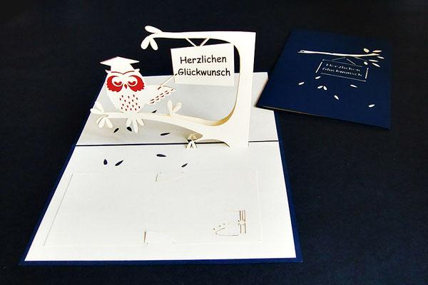 """Herzlichen Glückwunsch""  Pop Up Karte  - LIN ArtDesign -"