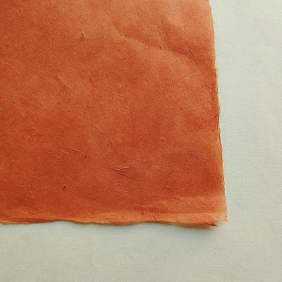 Daphne-Papier mit Büttenrand, kürbis
