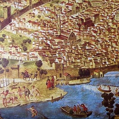 Ansicht von Florenz, Francesco Petrini, um 1490