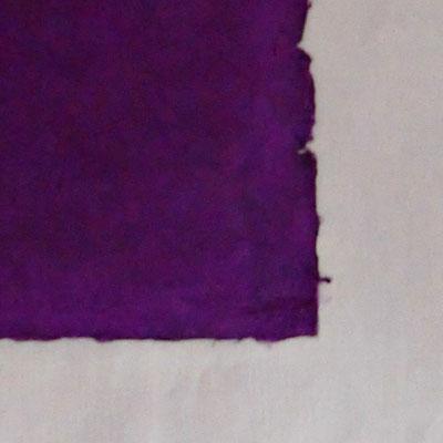 Daphne-Papier mit Büttenrand, purpur