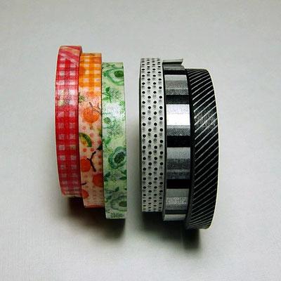 Japanische Klebebänder - masking tapes, 6 mm breit, 10m-Rollen
