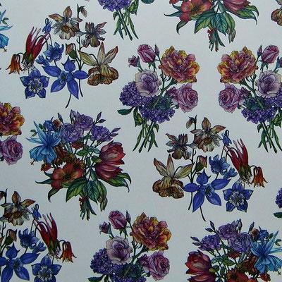 Florentiner Papiere: Blumen und Blüten - IT 321