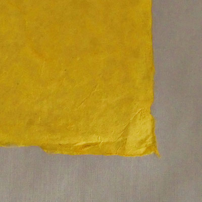 Daphne-Papier mit Büttenrand, gelb - LOK 612