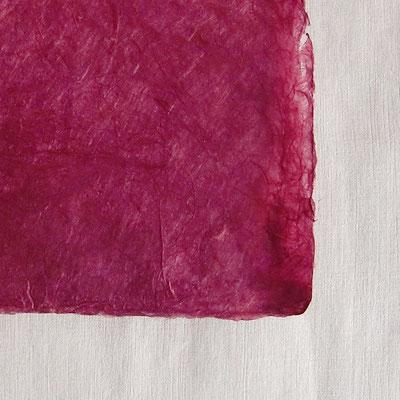 Daphne-Papier mit Büttenrand, bordeaux - LOK 623