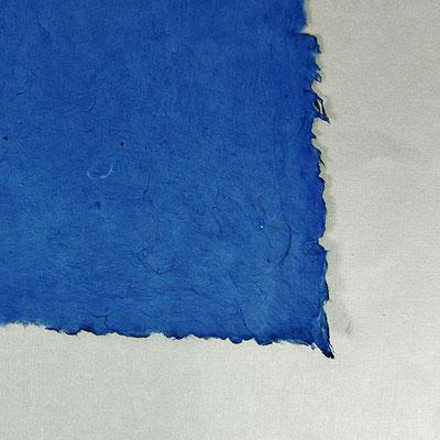 Daphne-Papier mit Büttenrand, königsblau - LOK 643
