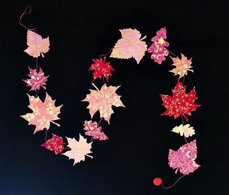 Girlande Blätter rot - GL53