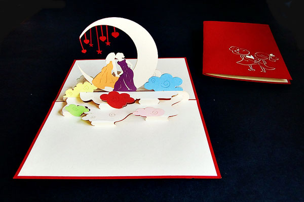 """Lesben-Hochzeit""  Pop Up Karte  - LIN ArtDesign -"