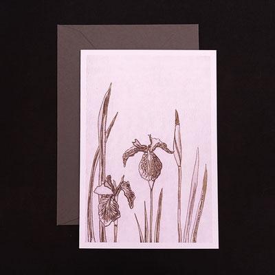 Offsetdruck von Tuschezeichnung auf handgedruckter Linolfläche - von Kathrin Förster-Kuberczyk - KSpi12