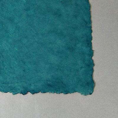 Daphne-Papier mit Büttenrand, taubenblau - LOK 645