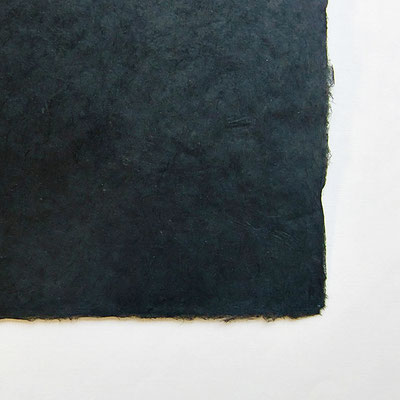 Daphne-Papier mit Büttenrand, schwarz - LOK 673