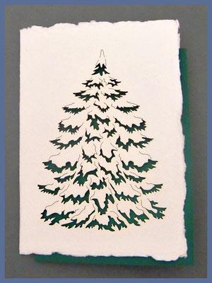 Weihnachtskarte aus indischem Baumwollpapier