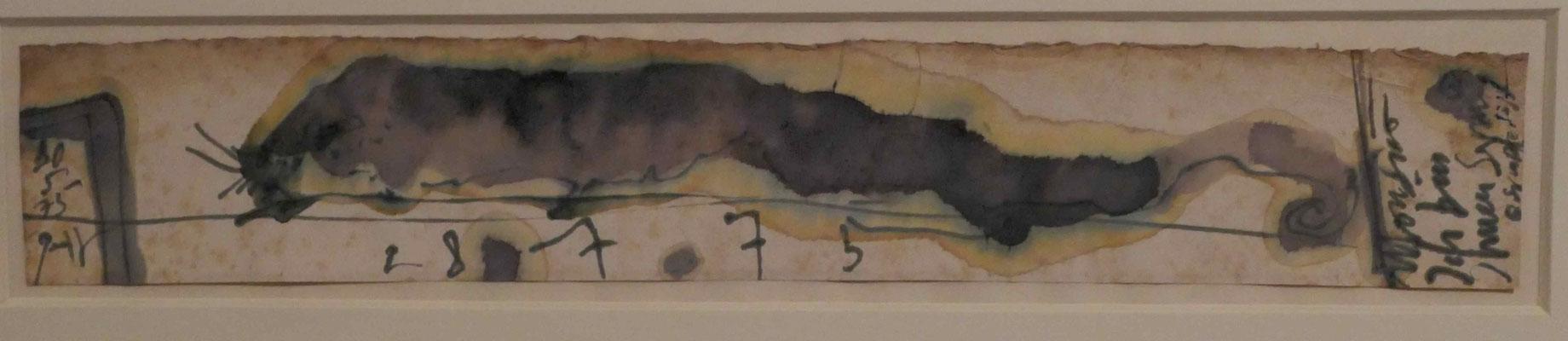 """Horst Janssen, """"Visitenkarte für einen Kriecher"""", Sonderausstellung """"Lebensklekse-Todeszeichen"""", Sammlung Scharf-Gerstenberg, Berlin"""