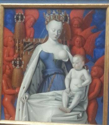 Jean Fouquet, Teil des Diptychon von Melun, Sonderausstellung in der Gemäldegalerie in Berlin