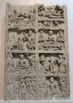 Szenen aus dem Leben des Buddha, Sarnath 5. -6- Jhdt. u.Z.