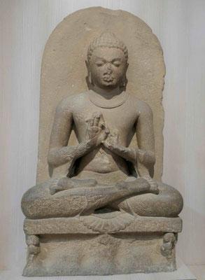 Buddha in Dharmachakra Pravatana, Sarnath 6. Jhdt u.Z.
