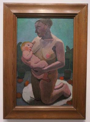 Paula Modersohn-Becker, Kniende Mutter mit Kind an der Brust, 1906