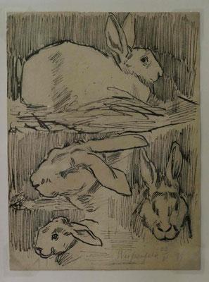 Christian Rohlfs, Vier Hasen, Kunsthalle zu Kiel