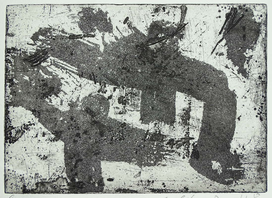 Radierung, Aquatinta, ca 14 x 19 cm